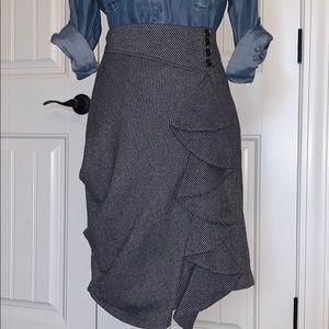 Asymmetrical Striped Anthropologie Skirt